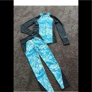 NWT Girls Yoga Activewear Justice Set 10